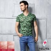【TELITA】吸濕涼爽迷彩短袖衫 綠色
