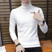 男毛衣  高領毛衣打底衫寬鬆毛衣男韓版潮流個性針織衫  瑪奇哈朵