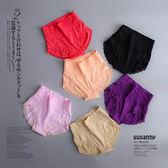 內褲 蕾絲 花邊 抓皺 收腹 提臀 內褲【KCS9001】 icoca  03/09