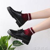 小皮鞋女夏季黑色小皮鞋女春季新款學生韓版原宿百搭英倫復古單鞋 唯伊時尚