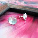 純銀手作花朵耳環--64DESIGN