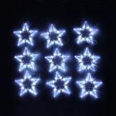 90燈跑馬星星窗簾聖誕燈 白光 T