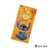 Disney迪士尼金飾 迪士尼系列金飾-黃金元寶紅包袋-史迪奇款