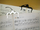日本進口~琴譜 書本 打開頁面 不鏽鋼 固定夾 書籤夾 (共2款) #固定夾 #書籤