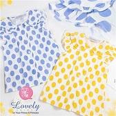 【封館5折】點點荷葉蓋袖上衣-2色(布料超優質)(310156)
