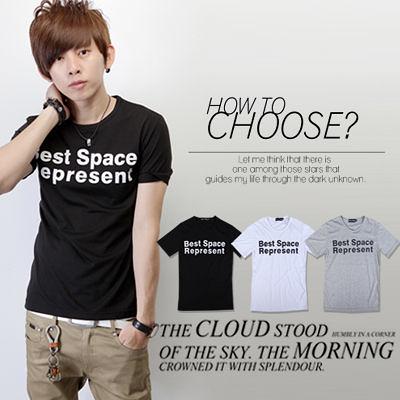 ∥柒零年代∥S/S OutDoor【N7851J】韓風個性簡約Best Space Represent潮流短TEE(JJ2193)