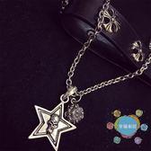 (超夯免運)情侶項鍊 日韓時尚氣質骷髏頭星星吊墜項鍊女新品情侶鎖骨頸鍊