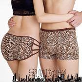 618大促 大碼 胖人情侶內衣內褲套裝豹紋性感蕾絲莫代爾棉男士平角女三角