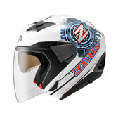 【ZEUS ZS 611E TT13 白 瑞獅 安全帽 】內藏遮陽鏡片、可加購下巴變全罩