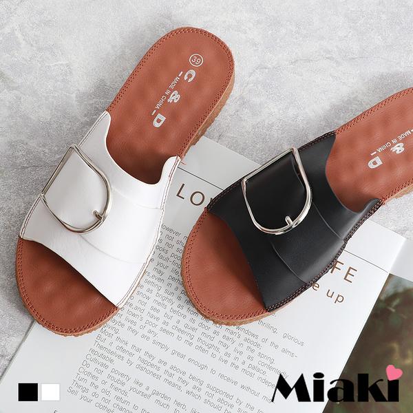 拖鞋.韓風造型平底涼拖