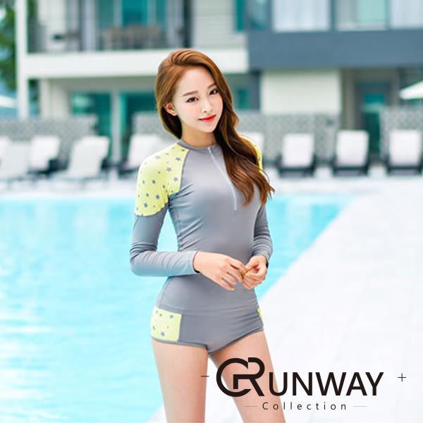 【R】現貨- 韓國 火熱 性感 衝浪衣 浮淺 淺水衣 緊身高彈力 長袖上衣 套裝 泳裝 泳衣
