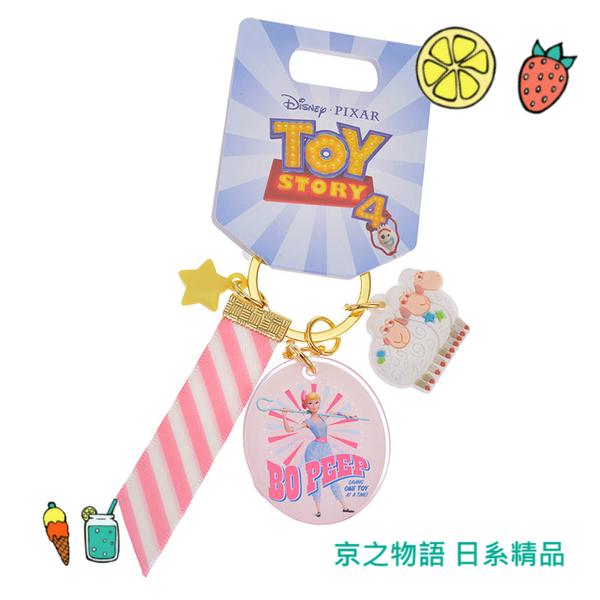 【京之物語】日本迪士尼商店玩具總動員4周邊牧羊女與羊緞帶鑰匙圈 吊飾 現貨