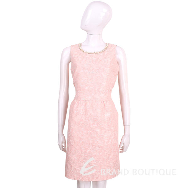 BLUGIRL 粉色珍珠領無袖花苞洋裝 1620467-05