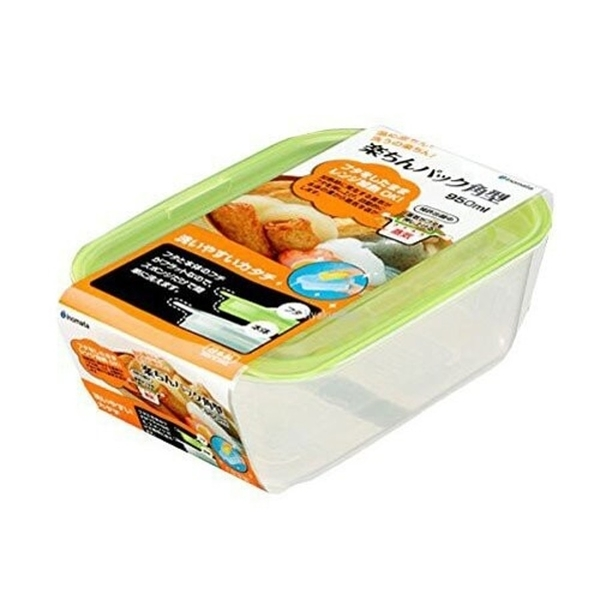 【日本製】【Inomata】日本製 食物保存收納 方型保鮮盒 950ml(一組:10個) SD-13696 - Inomata