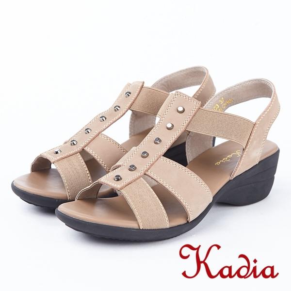2018春夏新品kadia.舒適牛皮涼鞋(8103-30棕)