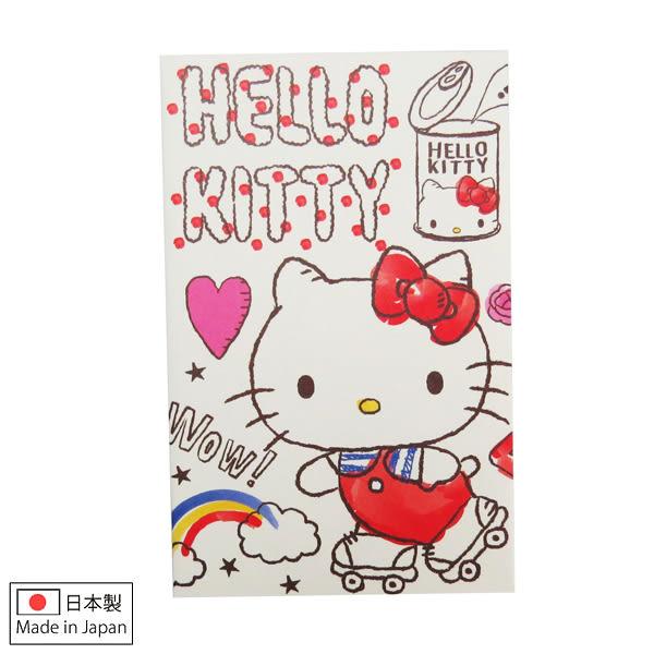 Hello Kitty信封 日製溜直排輪造型迷你紅包袋/信封袋/紙袋4入(含貼紙) [喜愛屋]
