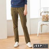 【JEEP】女裝 完美修身口袋長褲 (軍綠)