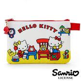 【日本正版】凱蒂貓 Hello Kitty 扁平 筆袋 鉛筆盒 化妝包 收納包 三麗鷗 Sanrio - 856040