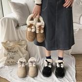 雪地靴ins潮鞋網紅雪地靴女時尚百搭新款冬季短筒厚底加絨面包棉鞋 扣子小鋪