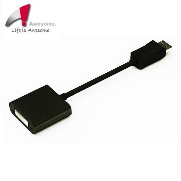 Awesome 支援ATi Eyefinity主動式DP to DVI轉接器(終身保固)-A00240013