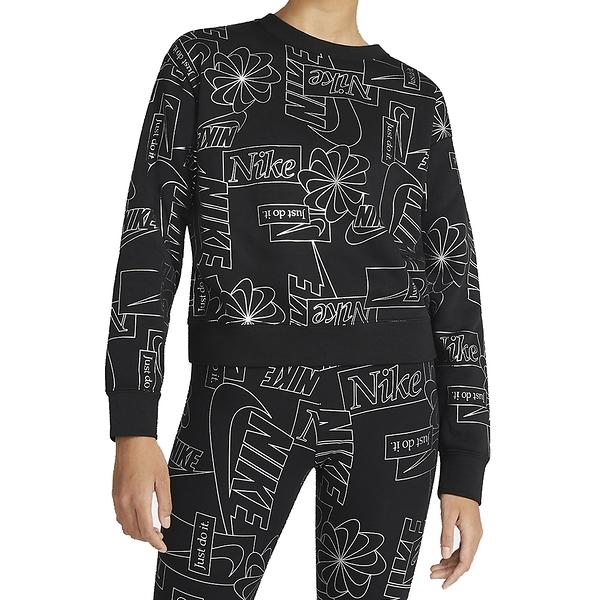 NIKE Sportswear Icon Clash 女款長袖上衣運動休閒 CZ1869010 黑