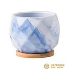 多肉花盆創意大理石紋陶瓷植物北歐小花盆帶托盤超級品牌【小獅子】