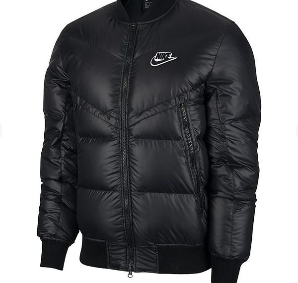 NIKE sportswear WR 男款黑色羽絨外套-NO.CU4403010
