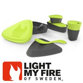 【Light My Fire 瑞典 魔術野餐盒8件組 萊姆】 LF4136-05/餐盒/環保餐盒/戶外餐具