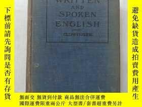 二手書博民逛書店WRITTEN罕見AND SPOKEN ENGLISH 書面英語與口語Y8495