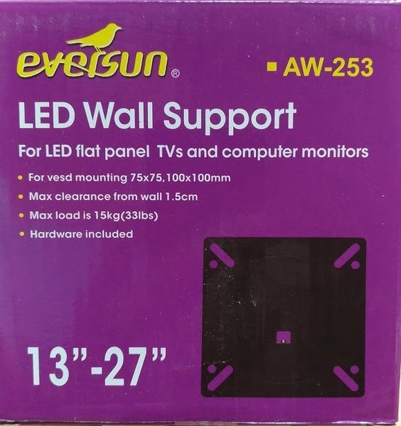 [液晶配件專賣店][CW-203/AW-253] 電腦螢幕電視壁掛架13-27吋適用 75*75,10*10固定式
