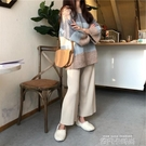 秋冬新款洋氣顯高網紅毛衣闊腿褲兩件套初秋輕熟風針織套裝女時尚 依凡卡時尚