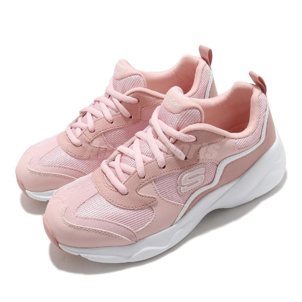 Skechers 休閒鞋 D Lites Airy-Matter Of Time 粉 白 女鞋 運動鞋 老爹鞋 【ACS】 66666231LTPK