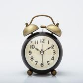 復古小鬧鐘創意迷你小鐘表學生靜音床頭鐘臥室鬧鈴超大聲夜光時鐘