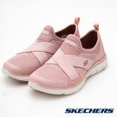 SKECHERS (女) 休閒系列 FLEX APPEAL 2.0魔鬼氈黏貼 12752ROS 【胖媛的店】