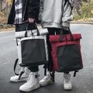書包 雙肩包女正韓高中大學生森系書包ins超火古著校園簡約百搭男背包