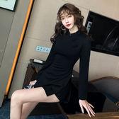 洋裝韓系秋裝改良復古旗袍套裝兩件套8660GT364快時尚