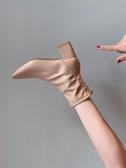 馬丁靴馬丁靴女英倫風2020新款春秋夏季韓版方頭粗跟網紅瘦瘦鞋單短靴子 雲朵走走