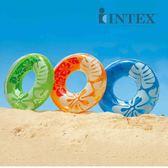 INTEX芙蓉花三色泳圈59251大人救生圈浮圈成人加厚游泳圈