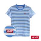 Levis 女款 短袖T恤 / 藍白條紋 / 迷你Logo徽章