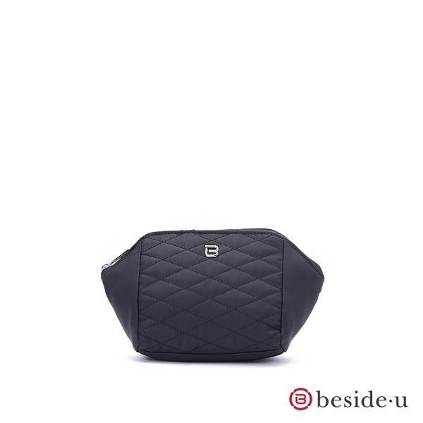 beside u BTTES 經典菱格紋車線化妝包袋中袋-黑色 原廠公司貨