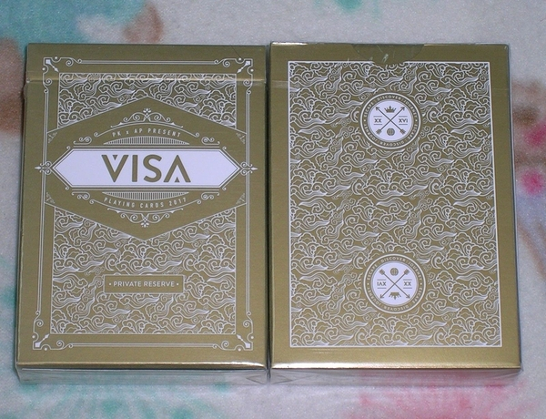 【USPCC 撲克】S102936 撲克牌 VISA PRIVATE RESERVE 金色 PLAYING CARDS
