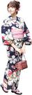 Nishiki【日本代購】和式浴衣+束腰帶2件套 女士成人用 - ナデシコに紅葉