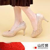 專櫃女鞋 水鑽蕾絲高跟鞋- 山打努SANDARU【2029948208】金色下單區