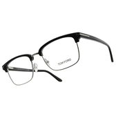 TOM FORD 光學眼鏡 TF5504 005 54mm (黑-銀) 俐落 造型 眉框 經典款 鏡框 鏡架 # 金橘眼鏡