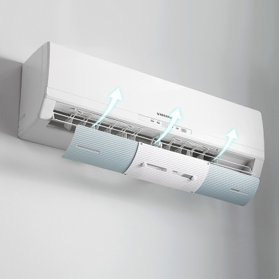 冷氣擋風板空調導風擋板坐月子防直吹擋冷風罩導風板可伸縮調節 四色可選【可伸縮54-70】JY
