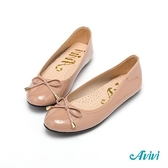 【Avivi】亮麗百搭蝴蝶結娃娃豆豆鞋-可