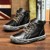 兒童冬天雪地靴毛毛鞋男童馬丁靴秋冬季新款潮兒童棉鞋雪地加絨真皮靴子童鞋 街頭布衣