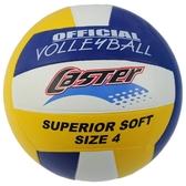CASTER 三色排球 4號排球 國小用/一個入(定230) 一般標準 彩色排球-群
