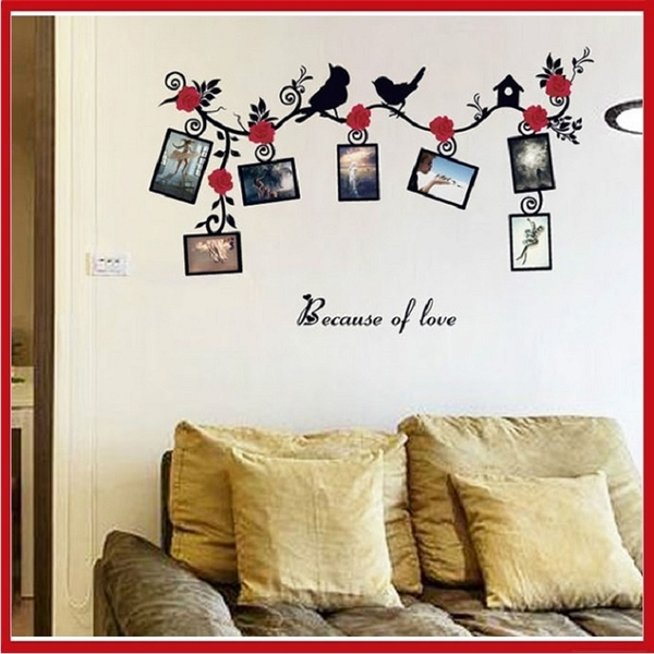 創意壁貼-花朵鳥兒相框 SK6025 客廳 臥房 會議室【AF01013-1058】i-style 居家生活