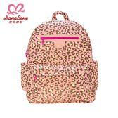 【虎兒寶】花花班尼 極輕感大後背防潑水空氣包-2件組-粉色豹紋